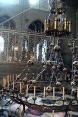 Chandelier in Notre Dame under repair.