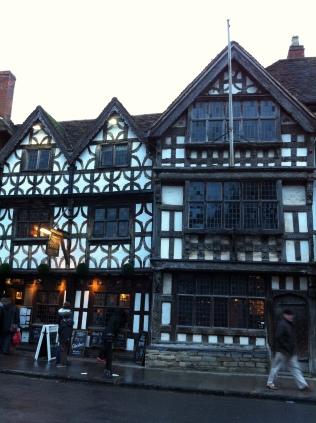 The Garrick, oldest pub in Stratford-upon-Avon.